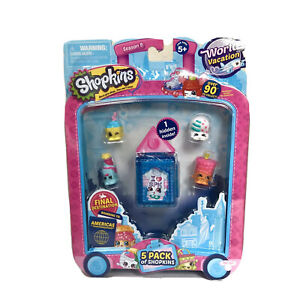 Shopkins 5 Pack World Vacation Americas Season 8 Blue New In Package