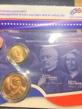 2010 Millard Fillmore Abigail PRESIDENTIAL $1 COIN FIRST SPOUSE MINT MEDAL SET