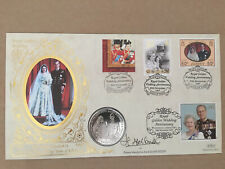 ROYAL GOLDEN WEDDING ANNIVERSARY COIN COVER AND SIGNED