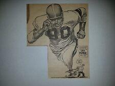 Len Ford Cleveland Browns 1953 Cartoon Sketch By Lou Darvas