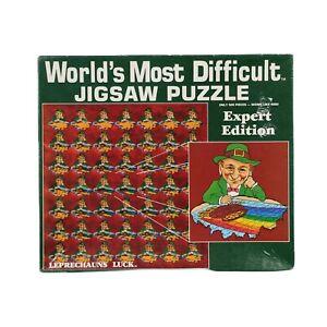World's Most Difficult Jigsaw Puzzle Leprechauns Luck 500 piece Vintage 1987