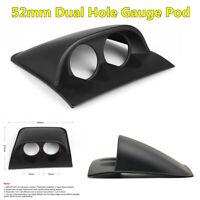 Black ABS Plastic Car Dashboard 2 Hole Double Gauge Meter Mount Holder Pod 52mm