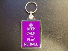 50 x KEEP CALM AND PLAY NETBALL KEYRINGS GIFT BAG TAG BIRTHDAY GIFT