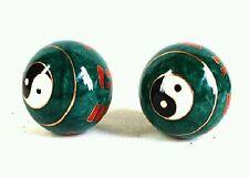 A set of Chinese BaoDing IRON Balls W/ Musical Chimes, Yin Yang Tai Ji