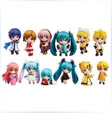 Anime Vocaloid Miku Hatsune Rin Luka set of 12 pcs Figures Cute PVC doll Figure