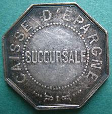 France - Bar-Sur-Seine - Caisse d'Epargne Succursale old silver token