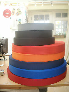 "1 3/4""/45mm ish Nylon Webbing/Strap - 1, 5 or 10 metre lengths - Various Colours"