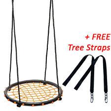 60cm Orange Round Web Nest Swing + FREE Tree Straps
