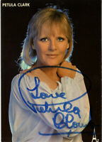 Petula Clark - British Singer - Hand Signed Early Publicity Photograph.