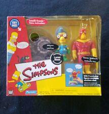 The Simpsons Interactive Lunar Base Playmates Radioactive Man & Fallout Boy NIB