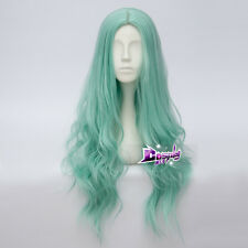 75cm Light Green Long Curly Hair Lolita Girls Gothic Anime Cosplay Wig