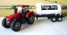 Wedding Day Gift Personalised Page Boy Name Red Farm Tractor  & Tanker Present