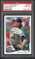 2014 Topps Update #US50 JACOB DEGROM RC Throwing PSA 10 GEM MINT