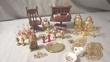 Large Lot of Dollhouse Miniature Furniture & Room Accessories Desk Swivel Chair