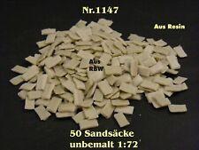 Nr.1247 - 50 Sandsäcke 1:72 Resin für Diorama