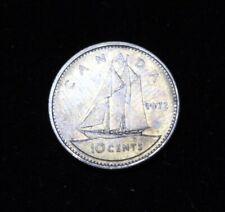 1972 CANADA 10 Cent DIME - ELIZABETH II - DARK TONING - SCARCE ON PURE NICKEL