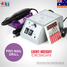 ElectricAcrylic Manicure Pedicure 6 Bits Drill File Tool Nail Art Shaper Machine