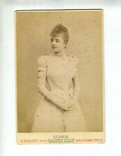 "(B2) Grande Photo CDV CHALOT ""chanteuse actrice opéra théâtre"" LUDWIG"