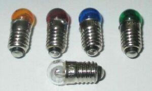 E5.5 Schraubsockel 3,5V   6mm  AUSWAHL: klar,rot,grün,gelb,blau  *NEU*