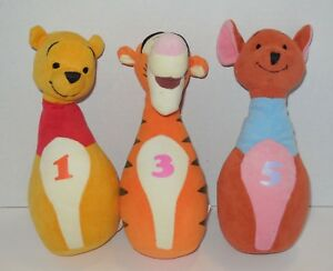 Baby Disney Winnie the Pooh Plush Bowling Pin Replacement or Extras Tigger Roo
