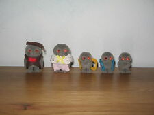 Sylvanian Familes Owl family,  Treefellow Owl Mum, Dad & 3 baby owlets