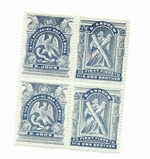 Great Britain Scottish Sunday School stamps 1890 se-tenant block of 4 S Andrew