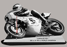 MOTO MINIATURE, JOHNNY CECOTTO, MOTO GP EN HORLOGE, 01