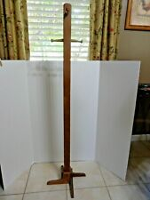 """Vintage Child Wooden Coat Rack Stand 48"""" Tall (RARE) Kid's Room Entry Hang Hats"""