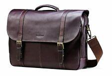 Samsonite Leather Messenger Bag Laptop Business Case Briefcase Attache Handbag