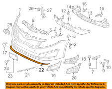 KIA OEM 14-15 Optima Front Bumper Grille-Lower Deflector 865912T500