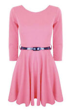 Robes roses courts en polyester pour fille de 2 à 16 ans