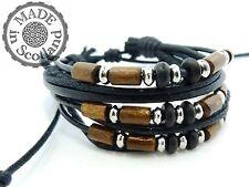 Leather Beaded Bracelets for Men