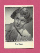 Inge Egger Vintage Kiddy Film Foto Movie Film Star German Card
