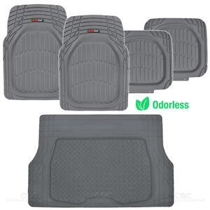 MotorTrend® Deep Dish Rubber Car Floor Mats & Cargo Set Heavy Duty BPA Free⭐⭐⭐⭐⭐
