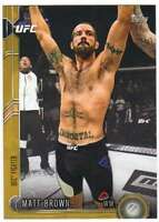 2015 Topps UFC Chronicles Gold Parallel /88 #65 Matt Brown
