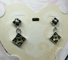Post Earrings ~ New J12500 Brighton Enamel Alhambra Drop Dangle Floral