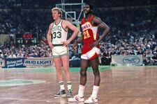 NBA Basketball Art Photo Poster: LARRY BIRD & WILKINS |24 inch by 36 inch| A