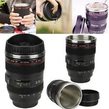 NEW Design 24-105mm Stainless Lens Thermos Camera Travel Coffee Tea Mug Cup UK