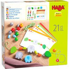Threading Game Elephants Creative Fädelspaß 305779 Haba Wood