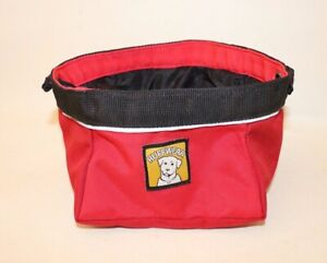 Ruff Wear dogs on the go Red bowl yellow compact collapsable