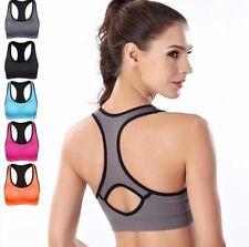 Women Racer-back Sports Bras - High Impact Workout Gym Activewear Bra