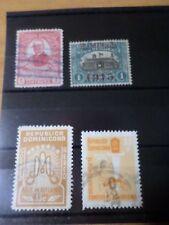 REPUBLICA DOMINICANA, LOT 001, 4 timbres oblitérés, VF cancelled stamps
