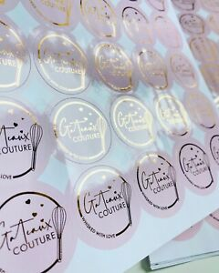 Foiled Business Logo Stickers