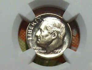 1966 SMS Roosevelt Dime-NGC MS 67