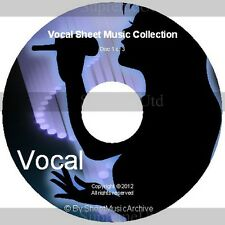 Massive Professional Vocal Voice Sheet Music Collection Archive Library 3 DVD's