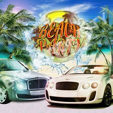 8'x8' BEACH BENTLEYS URBAN RAP CLUB BACKDROP CITY HIP HOP BACKDROP® BACKGROUND