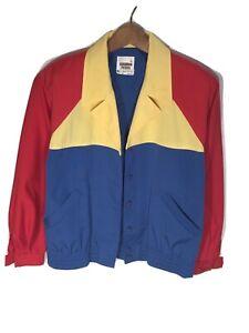 Vintage USA Suburban Petites Womens (Size 6P) Colorblock Nautical Sailing Jacket