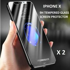 X2 Genuino Gorilla Tempered Vidrio Protector de Pantalla Táctil para Apple iPhone 10 X