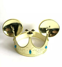 MICKEY MOUSE EARS GOLD JEWELED CROWN HAT DISNEY PARKS