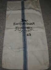 Antique German Linen Grain Feed Sack with horse,45